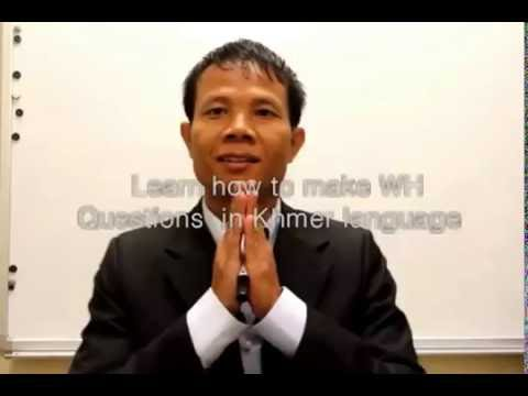 Ask questions in Khmer language ASEAN lanuages