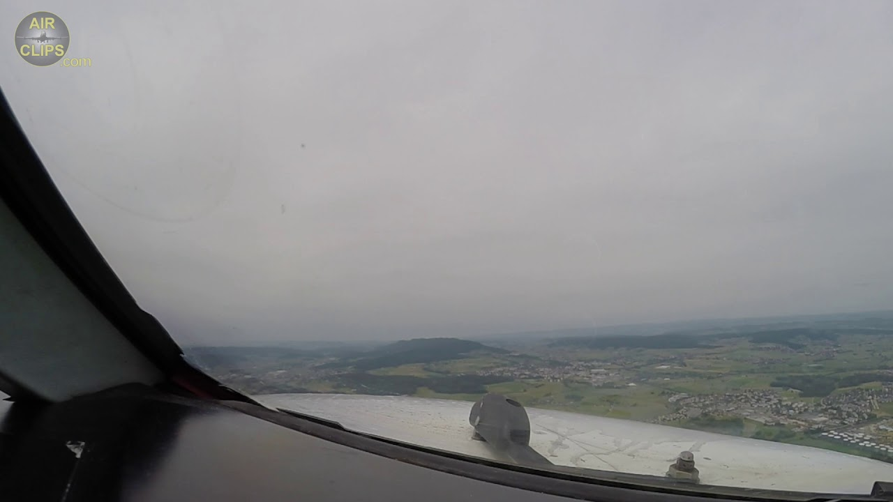 Fokker 100 Pilot's View Takeoff: Helvetic Airways Farewell Flight from Zürich! [AirClips]