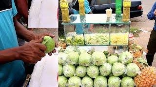 Healthy Green Fruits# Tasty Masala Pyara (Guava) Recipe Yummy Street food Kolkata Style @ Tk 20