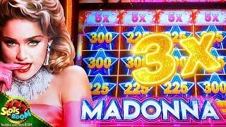 FULL SCREEN 3X MIGHTY CASH !!! MADONNA New Slot!!! 1c Aristocrat Gaming