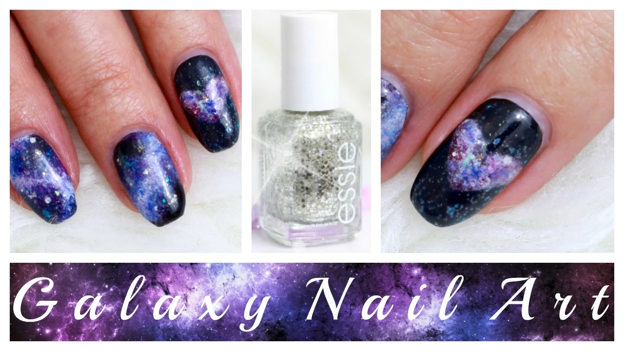 GALAXY NAIL ART 💜 Easy DIY TUTORIAL 🌌✨ ESSIE/ESSENCE NAGELLACKE ...