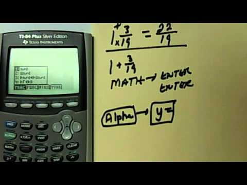 How To Change A Mixed Number Into An Improper Fraction In The TI ...