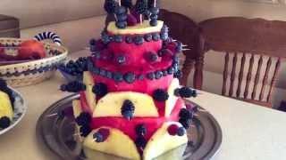 Как приготовить торт из арбуза/ How to make watermelon cake