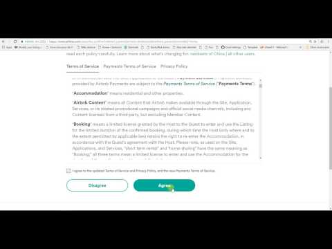 airbnb terms of service upute