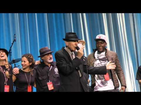 Leonard Cohen in Amsterdam: 20th September 2013:Final 17 minutes of Concert (crew on stage )