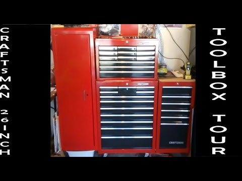 Craftsman 26 Inch Toolbox Tour YouTube