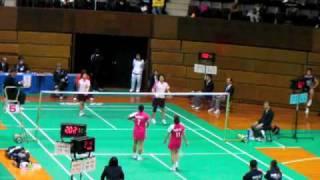 2009/12/3 代々木第2体育館 岡ひとみ・横山めぐみ(NEC SKY) 日野由希江...