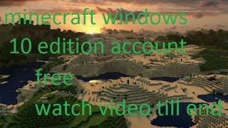 MINECRAFT FREE windows 10 edition account part 2