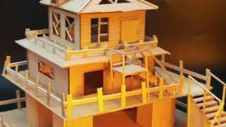 아이스크림 스틱 나무 DIY 수제 주택 건축 모델 재료…