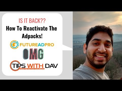 IS IT BACK  Future Adpro How To Reactivate Adpacks?