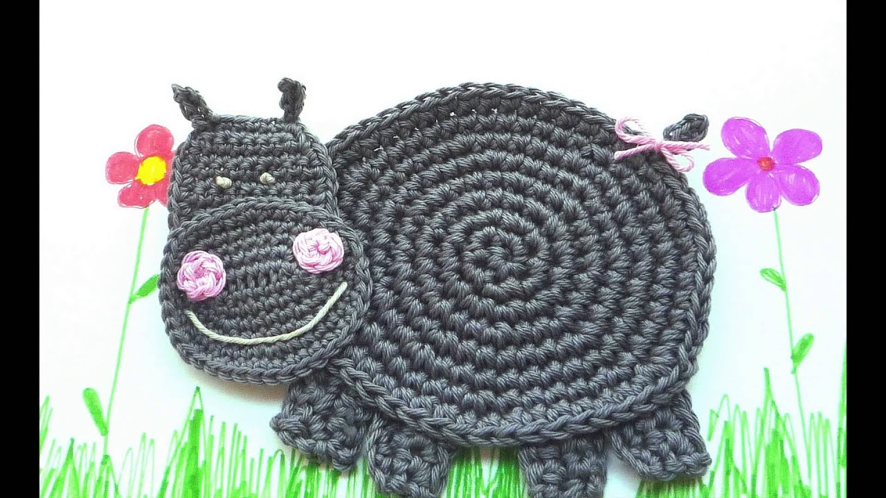 Free Crochet Pattern For Hippo Hat Youtube