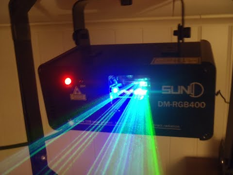 SUNY  DM-RGB400 LASER UNPACKING TESTING AND SLAVE MODUS