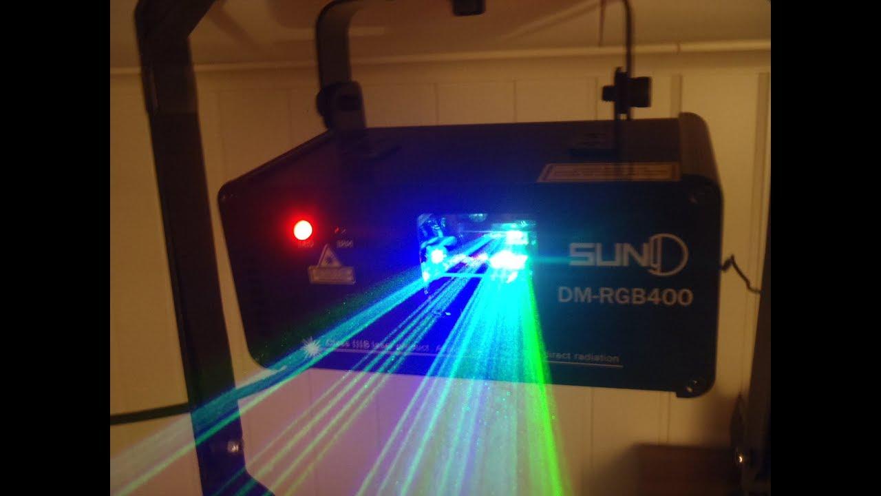 SUNY  DM-RGB400 LASER UNPACKING TESTING AND SLAVE MODUS