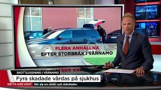 Åtta anhållna efter skottlossningen i Värnamo - Nyheterna (TV4)