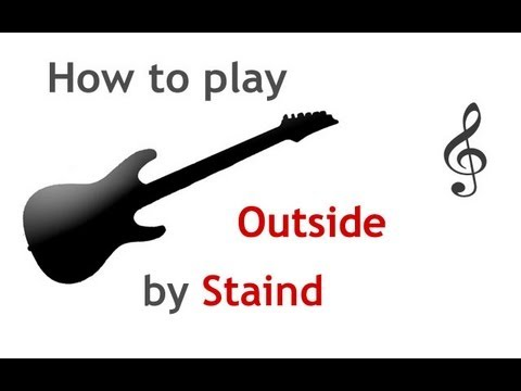 Outside By Staind Guitar Lesson With Chords Guitarguitar