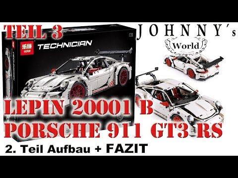 Teil 3 - Lepin 20001 B - Fake-Lego Porsche 911 GT3 RS - Aufbau + FAZIT Review auf Deutsch