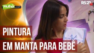 Pintura e montagem de manta para bebê – Filó Frigo P1