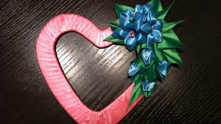 Валентинка Канзаши/A gift for Saint Valentine's day