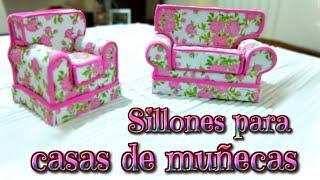 Muebles para casas de muñecas, sillones de goma Eva o foami - Isa ❤️