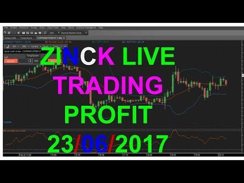 LIVE TRADING ZINC 23/06/2017