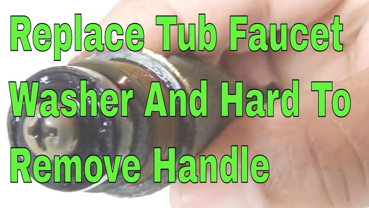 Replace Tub faucet washer and hard to remove handle 👍👍👍 - YouTube