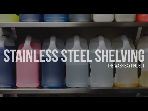 Installing Stainless Steel Shelves