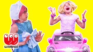 Princess Esme Goes Back To The Future 🚗 Magic Car! - Princesses In Real Life | WildBrain Kiddyzuzaa
