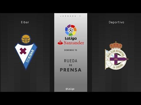 Rueda de prensa Eibar vs Deportivo
