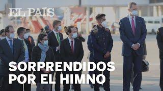 La interpretación del HIMNO de ESPAÑA que ha sorprendido al Rey y a Iglesias en su llegada a BOLIVIA