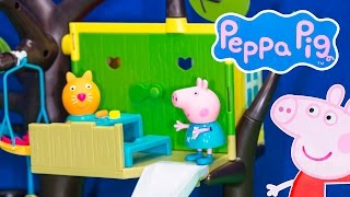 Peppa Pig Nickelodeon Peppa Pig Tree House A Peppa Pig Muddy Muddles Video Toy Review