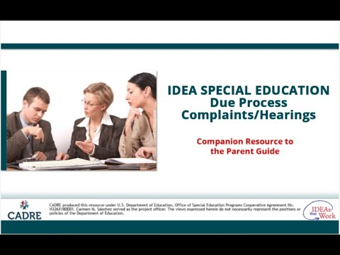 IDEA Special Education Due Process Complaints or Hearing Requests