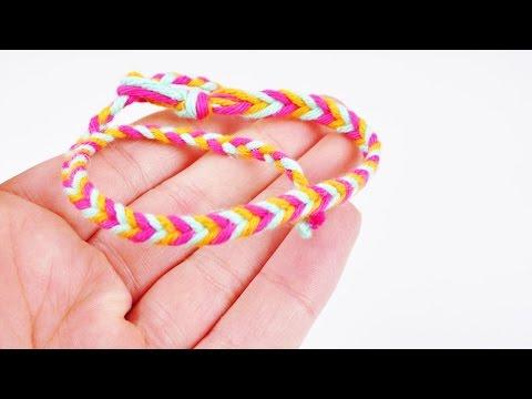 Fischgrätenarmband selber machen | Armband in 3 Farben selber knüpfen | Geschenkidee