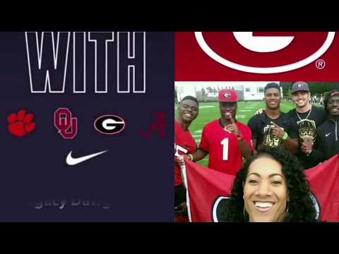Georgia Rose Bowl Sony Michel and Garrison Hearst by Monica's Cabbler