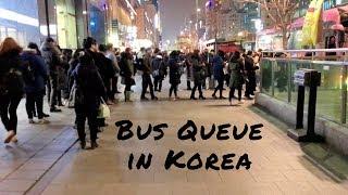 Bus Queue in South Korea