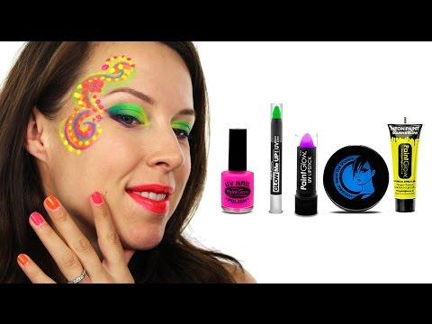 Uv Neon Face Paint Tutorial