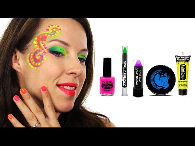 UV Neon Face Paint Tutorial - How to Do Neon Festival Face Paint