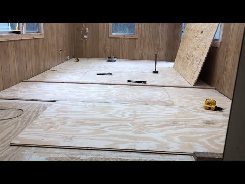 Laying Down Tongue And Groove Plywood Youtube