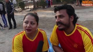 फुट्बल मैदानमै कलकारहरुले यसरी गरे मस्ती   Sarita Lamichhane  Salon basnet   Rejina Upreti