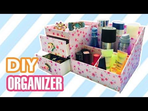 DIY Desk Organizer | DIY Makeup + Jewelry Organizer Box