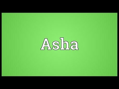 Asha Meaning