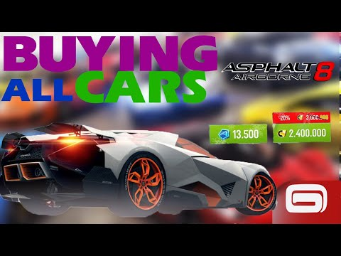 Asphalt 8 buying all Cars