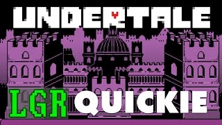 LGR - Undertale - PC Game Review (Video Game Video Review)