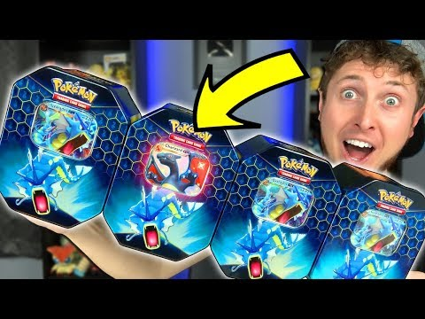 I PULLED SHINY CHARIZARD GX! - Only Opening Gyarados Hidden Fates Pokemon Card Tins