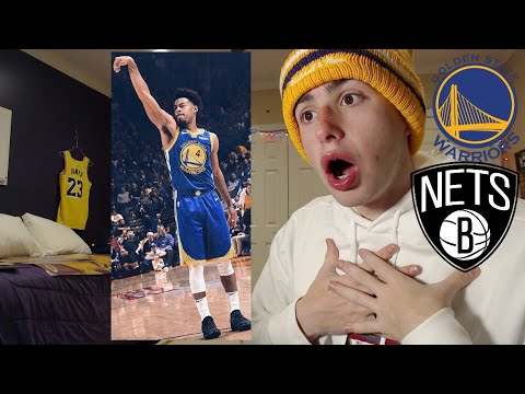 QUINN COOK GOES OFF!! IM SALTY.. WARRIORS VS NETS REACTION!!