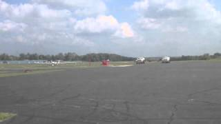 Cessna 340 landing RWY 22 at Sporty
