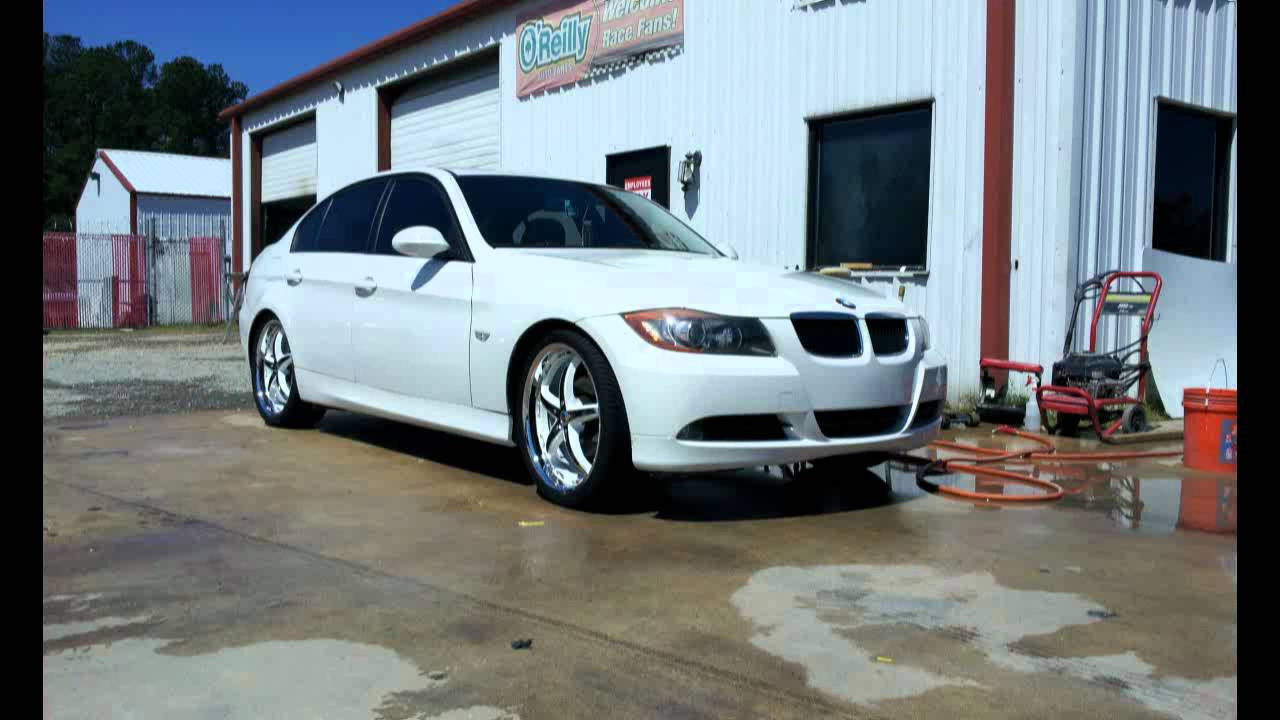 2006 Bmw 325i Black Ice Rims Freshly Painted White Youtube