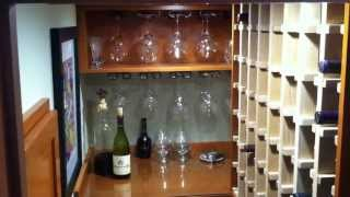 Under Staircase Wine Storage!