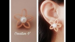 How to Make Quilling Stud Earrings/Design 11/Tutorial