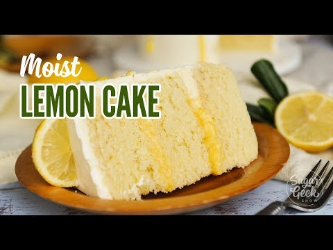 Moist Lemon Cake With Lemon Curd Drip Youtube