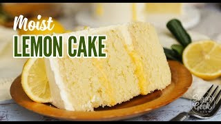 Moist Lemon Cake with Lemon Curd Drip
